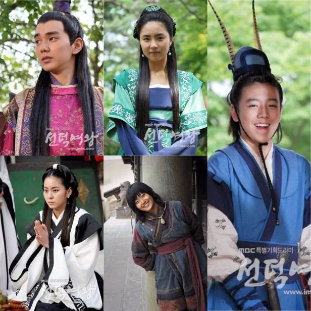 Seondok young actors collage