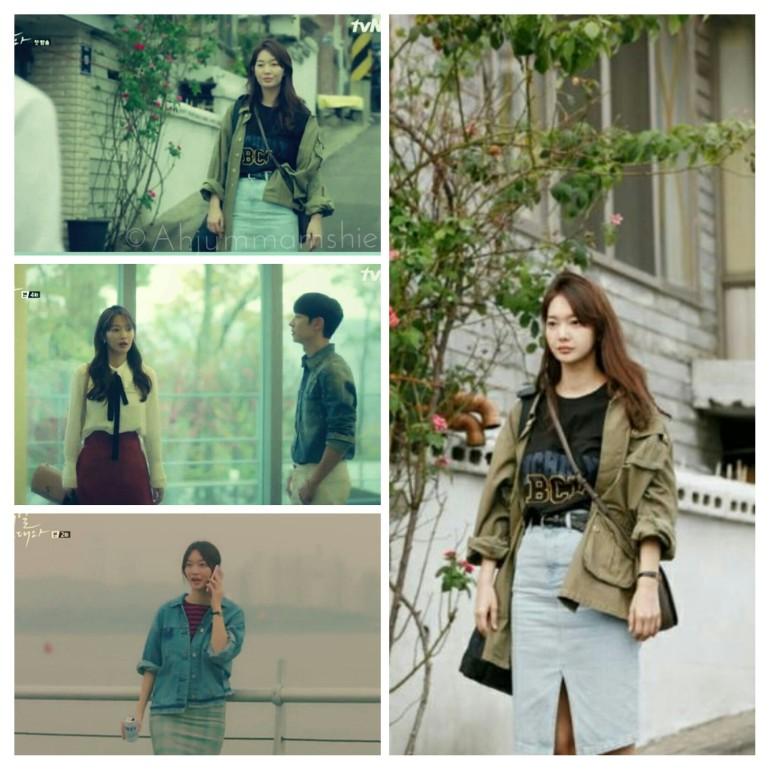 Shin Min Ah skirts