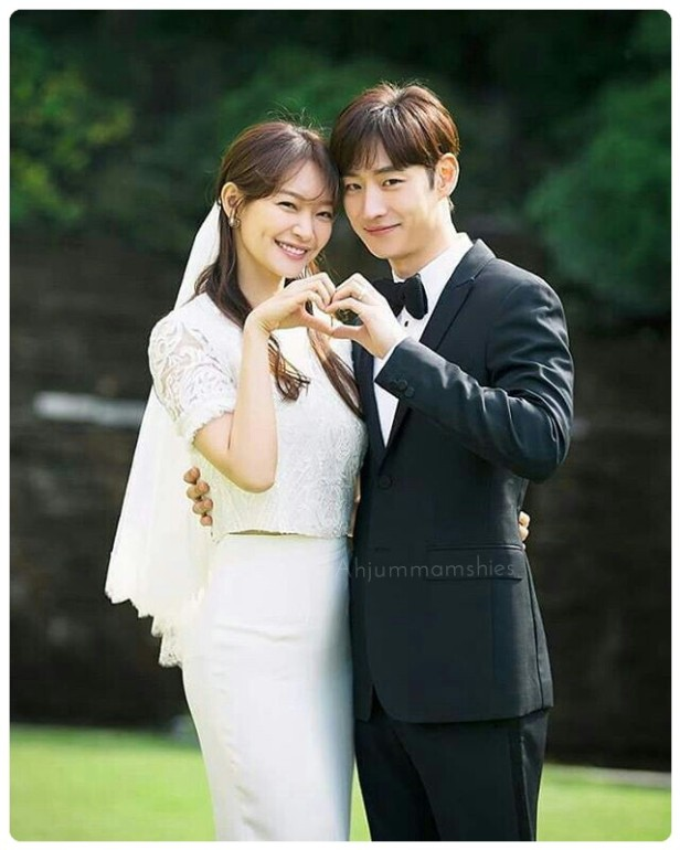 Shin Min Ah wedding dress
