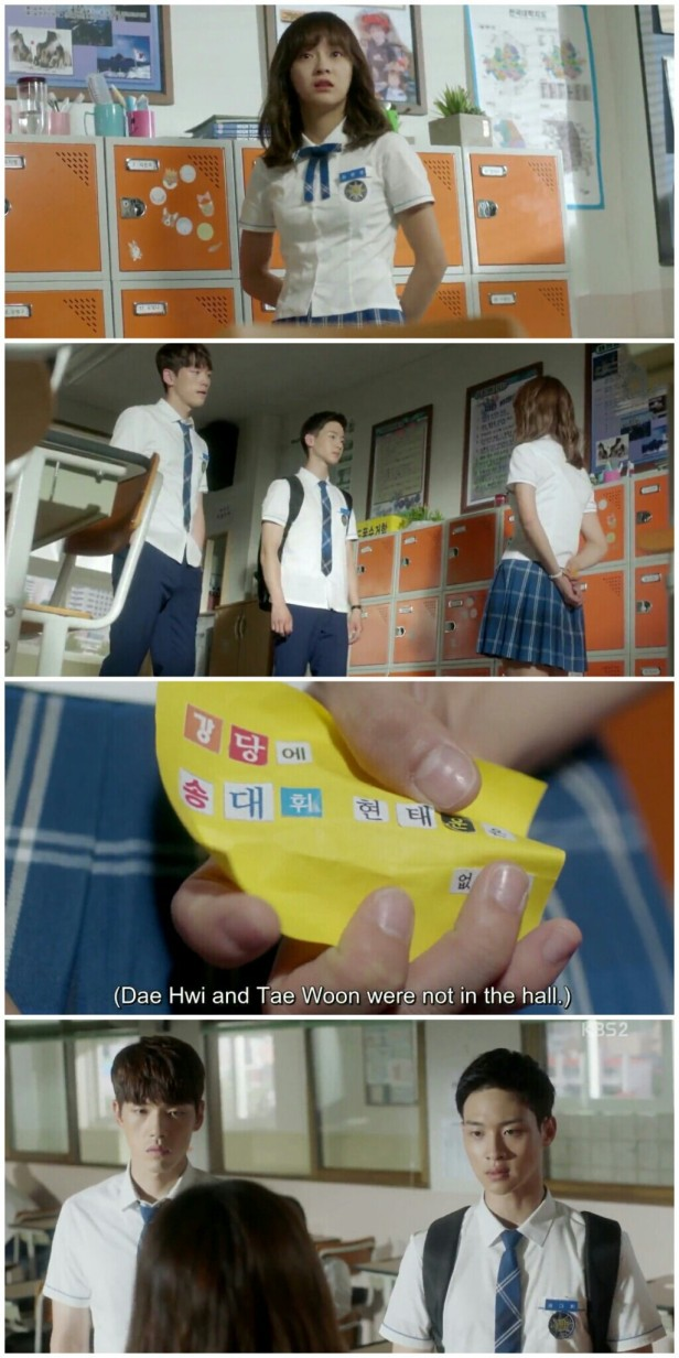 School ep 2 ending daehwi taewoon