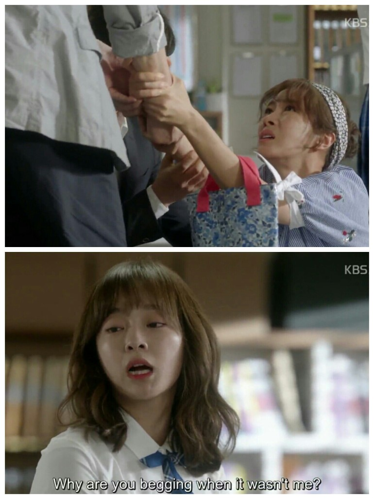 School ep 2 eun ho mom beg