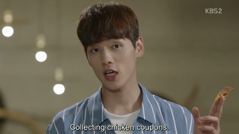 School ep 8 hyun tae woon funny chicken coupon