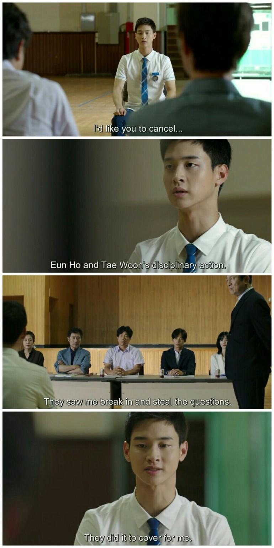 School ep 8 song dae hwi admitting stealing