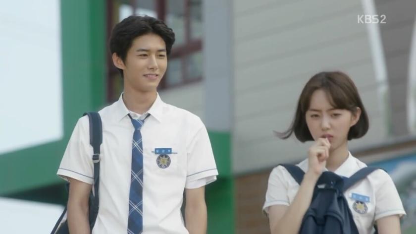 School ep 8 yoon yung woo oh sa rang cute
