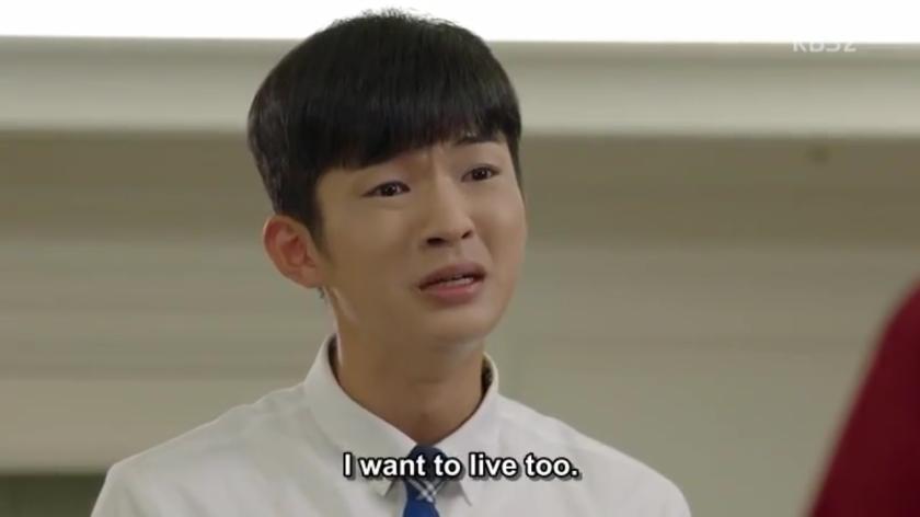 School 2017 ep 11 kim hee chan crying mom