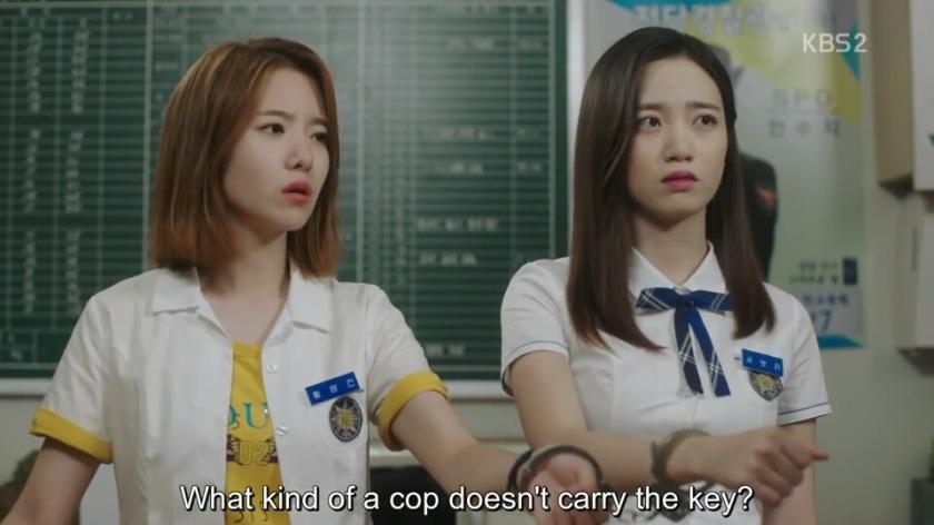 school 2017 ep 13 young gun bo ra handcuffs
