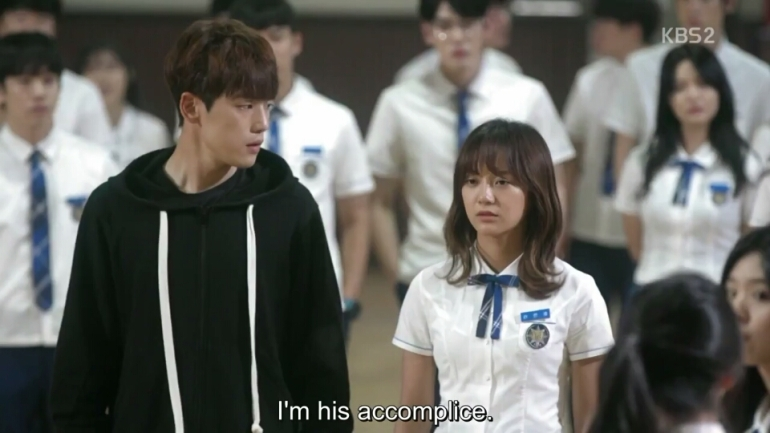 School 2017 episode 16 finale ra eun ho admitting she is x accommplice