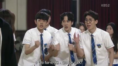 School 2017 episode 16 finale students cheering x