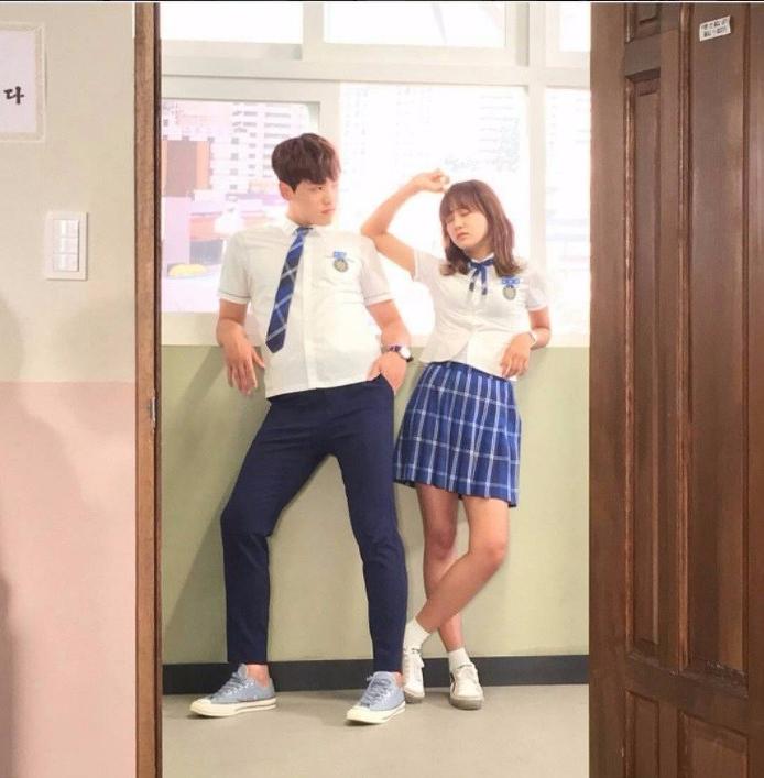 School 2017 kim sejeong kim junghyun behind the scene ra eunho hyun taewoon