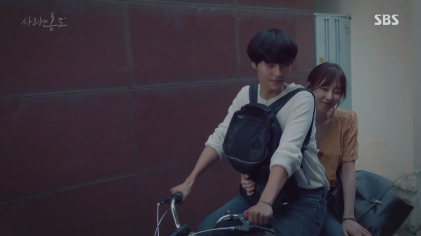 Temperature of Love Ep 5 6 lee hyun soo and on jung sun riding bike