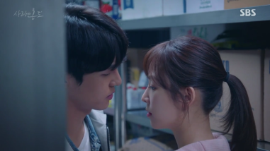 Temperature of Love Ep 9 10 on jung sun lee hyun soo freezer almost kiss