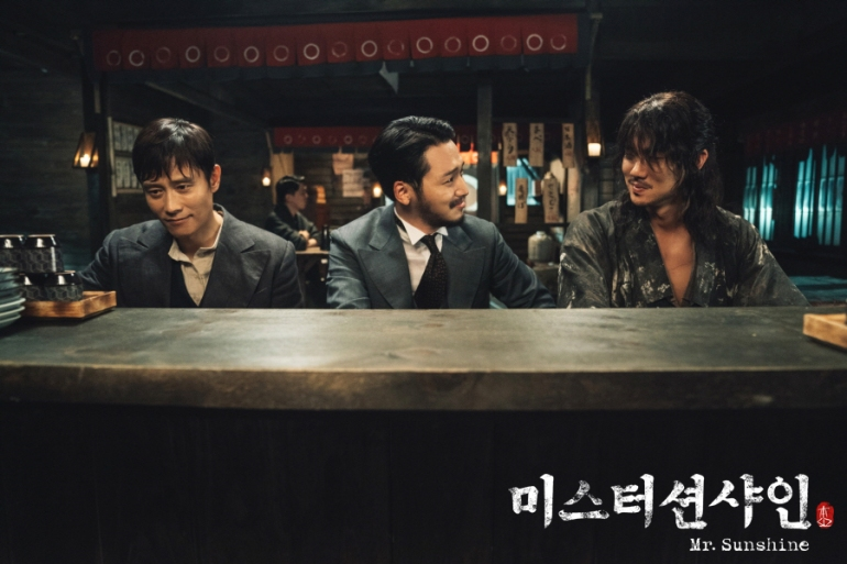 Eugene Choi, Goo Dong-mae, and Kim Hee-sung (Mr. Sunshine)
