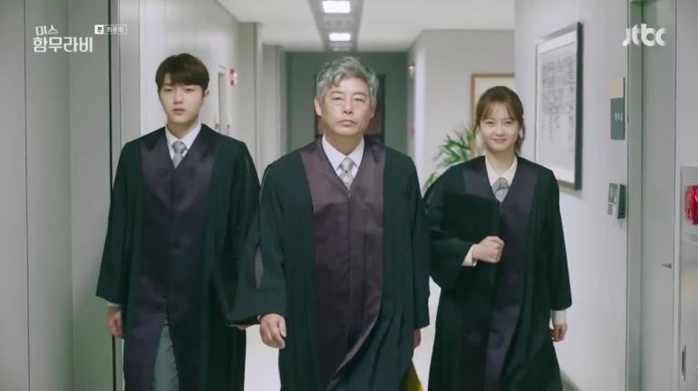 Park Cha-oreum, Im Ba-reun, and Han Se-sang (Miss Hammurabi)
